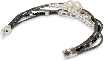styleBREAKER Armband mit feinen Bändern, Perlen und Schmucksteine, Magnetverschluss, Armschmuck, Schmuck, Damen 05040134 – Bild 5