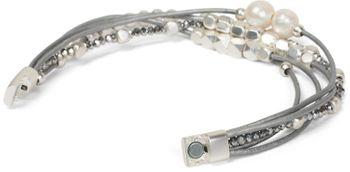 styleBREAKER Armband mit feinen Bändern, Perlen und Schmucksteine, Magnetverschluss, Armschmuck, Schmuck, Damen 05040134 – Bild 17