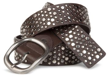 styleBREAKER studded belt in vintage style with different sized flat rivets, shortened 03010022 – Bild 11