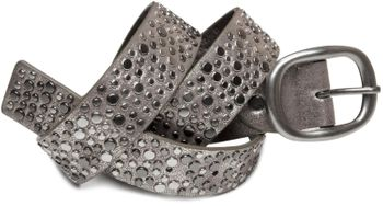 styleBREAKER studded belt in vintage style with different sized flat rivets, shortened 03010022 – Bild 5