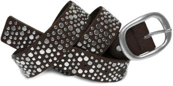 styleBREAKER studded belt in vintage style with different sized flat rivets, shortened 03010022 – Bild 6