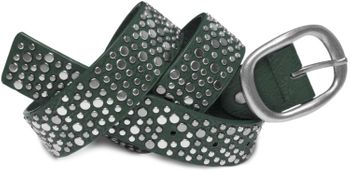 styleBREAKER studded belt in vintage style with different sized flat rivets, shortened 03010022 – Bild 4