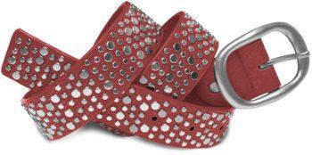 styleBREAKER Nieten Gürtel im Vintage Style mit unterschiedlich großen flachen Nieten, kürzbar 03010022 – Bild 9