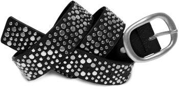 styleBREAKER Nieten Gürtel im Vintage Style mit unterschiedlich großen flachen Nieten, kürzbar 03010022 – Bild 10