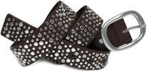 styleBREAKER Nieten Gürtel im Vintage Style mit unterschiedlich großen flachen Nieten, kürzbar 03010022 – Bild 6