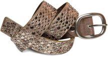 styleBREAKER Nieten Gürtel im Vintage Style mit unterschiedlich großen flachen Nieten, kürzbar 03010022 – Bild 2