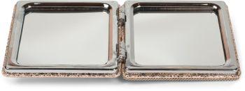 styleBREAKER eckiger Taschenspiegel mit Strass Anker und Kette, 1X / 3X Vergrößerung, Kompaktspiegel, klappbar, 2 Seiten 05070005 – Bild 5