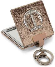 styleBREAKER eckiger Taschenspiegel mit Strass Anker und Kette, 1X / 3X Vergrößerung, Kompaktspiegel, klappbar, 2 Seiten 05070005 – Bild 1
