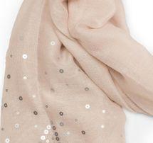 styleBREAKER Schal unifarben mit Pailletten Sterne an beiden Seiten, Glitzer Tuch, Damen 01016152 – Bild 17