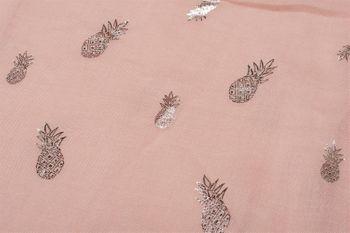 styleBREAKER Loop Schal mit glitzerndem Metallic Ananas All Over Print Muster, Schlauchschal, Tuch, Damen 01016153 – Bild 3