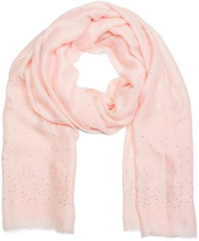 styleBREAKER Schal unifarben mit all Over Perlen, Strassnieten und Fransen, Tuch, Damen 01016154 – Bild 17