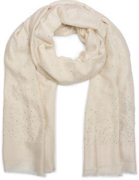 styleBREAKER Schal unifarben mit all Over Perlen, Strassnieten und Fransen, Tuch, Damen 01016154 – Bild 25