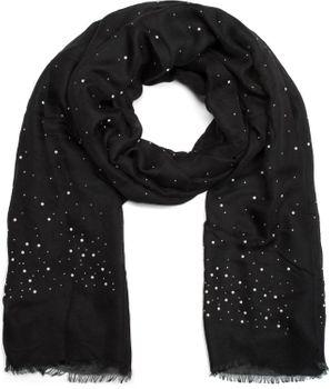 styleBREAKER Schal unifarben mit all Over Perlen, Strassnieten und Fransen, Tuch, Damen 01016154 – Bild 5
