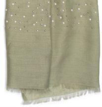 styleBREAKER Schal unifarben mit all Over Perlen, Strassnieten und Fransen, Tuch, Damen 01016154 – Bild 3
