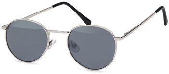 styleBREAKER Sonnenbrille in Panto-Form mit runden Flachgläsern und Metall Bügel, Unisex 09020077 – Bild 5