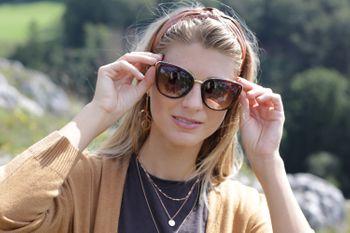 styleBREAKER Damen Sonnenbrille in Katzenaugen Schmetterling Form mit Metall und Kunststoff Rahmen, Cat-Eye, Oversize 09020078 – Bild 8