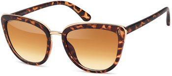 styleBREAKER Sonnenbrille in Katzenaugen Schmetterling Form mit Metall und Kunststoff Rahmen,Cat-Eye, Damen 09020078 – Bild 1