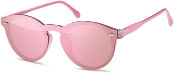 styleBREAKER Monoglas Sonnenbrille mit Flachgläsern und Kunststoff Bügel, runde Glasform, Unisex 09020081 – Bild 14