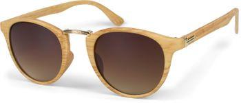 styleBREAKER Sonnenbrille in Holz Optik und runden Gläsern, Kunststoff-Metall-Gestell, Unisex 09020083 – Bild 16