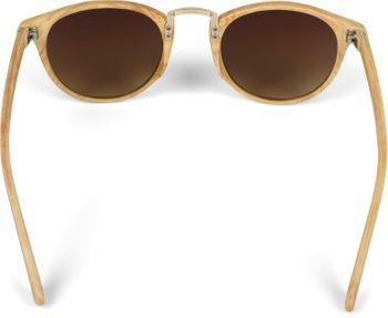 styleBREAKER Sonnenbrille in Holz Optik und runden Gläsern, Kunststoff-Metall-Gestell, Unisex 09020083 – Bild 19