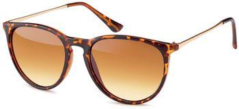 styleBREAKER Sonnenbrille mit großen ovalen Gläsern und Metall Bügel, Damen 09020085 – Bild 7