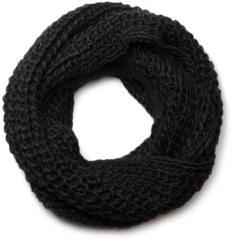 styleBREAKER classic chunky knit loop tube scarf in wool look, knitted scarf 01018113 – Bild 3