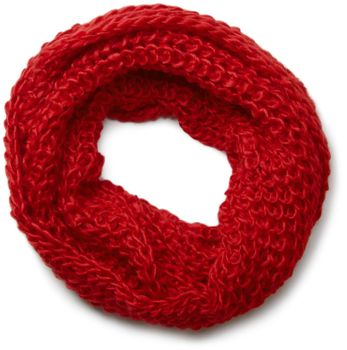 styleBREAKER classic chunky knit loop tube scarf in wool look, knitted scarf 01018113 – Bild 11