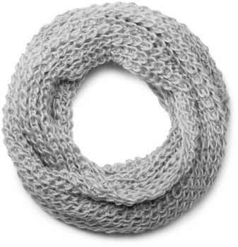 styleBREAKER classic chunky knit loop tube scarf in wool look, knitted scarf 01018113 – Bild 12