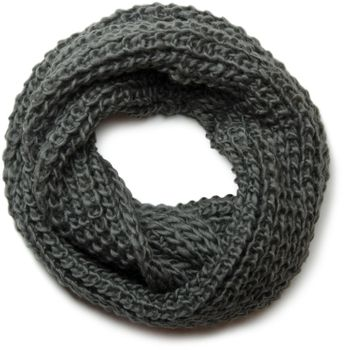 styleBREAKER classic chunky knit loop tube scarf in wool look, knitted scarf 01018113 – Bild 13