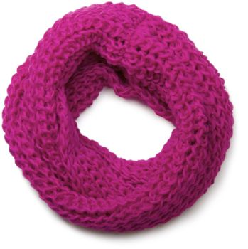 styleBREAKER classic chunky knit loop tube scarf in wool look, knitted scarf 01018113 – Bild 15