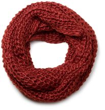 styleBREAKER classic chunky knit loop tube scarf in wool look, knitted scarf 01018113 – Bild 17