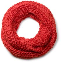 styleBREAKER classic chunky knit loop tube scarf in wool look, knitted scarf 01018113 – Bild 6