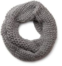 styleBREAKER classic chunky knit loop tube scarf in wool look, knitted scarf 01018113 – Bild 8