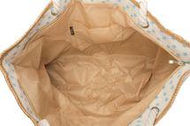 styleBREAKER XXL Strandtasche mit kleinem Sterne Muster, Stern Print und Reißverschluss, Schultertasche, Shopper, Damen 02012231 – Bild 4
