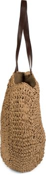 styleBREAKER runde Korbflecht Schultertasche, Strandtasche mit langen Henkeln, Flechttasche, Tasche geflochten, Shopper, Damen 02012232 – Bild 2