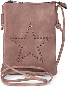 styleBREAKER Mini Bag Umhängetasche mit Nieten in Stern Form, Schultertasche, Handtasche, Tasche, Damen 02012235 – Bild 1