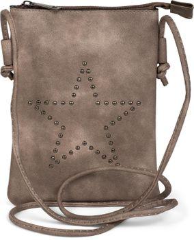 styleBREAKER Mini Bag Umhängetasche mit Nieten in Stern Form, Schultertasche, Handtasche, Tasche, Damen 02012235 – Bild 9