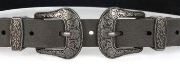 styleBREAKER Gürtel mit doppelter verzierter Schnalle im Western Style, B-Low Belt, Taillengürtel, kürzbar, Damen 03010085 – Bild 26