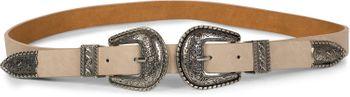 styleBREAKER Gürtel mit doppelter verzierter Schnalle im Western Style, B-Low Belt, Taillengürtel, kürzbar, Damen 03010085 – Bild 7