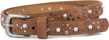 styleBREAKER schmaler Gürtel mit Nieten, Perlen und Strass, Vintage Nietengürtel, kürzbar, Damen 03010086 – Bild 25
