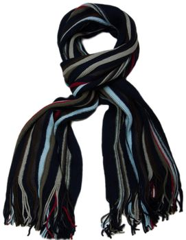 styleBREAKER fine knit mens scarf in stripes look, knitted scarf 01018117 – Bild 13
