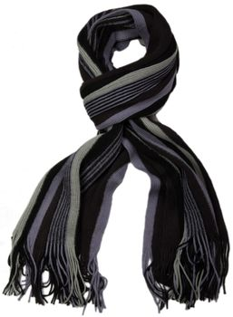 styleBREAKER fine knit mens scarf in stripes look, knitted scarf 01018117 – Bild 37