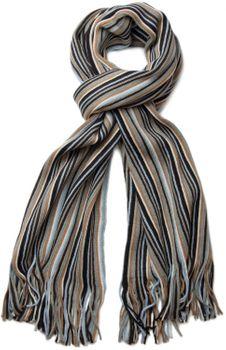 styleBREAKER Feinstrick Herren Schal im Streifen Look, Strickschal mit Fransen, weich und warm 01018117 – Bild 5