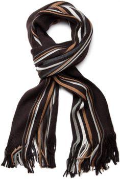 styleBREAKER Feinstrick Herren Schal im Streifen Look, Strickschal mit Fransen, weich und warm 01018117 – Bild 3