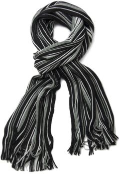 styleBREAKER fine knit mens scarf in stripes look, knitted scarf 01018117 – Bild 11