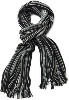 styleBREAKER Feinstrick Herren Schal im Streifen Look, Strickschal mit Fransen, weich und warm 01018117 – Bild 11