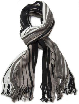 styleBREAKER Feinstrick Herren Schal im Streifen Look, Strickschal mit Fransen, weich und warm 01018117 – Bild 23