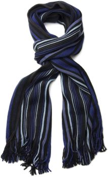 styleBREAKER fine knit mens scarf in stripes look, knitted scarf 01018117 – Bild 30