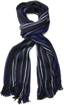 styleBREAKER Feinstrick Herren Schal im Streifen Look, Strickschal mit Fransen, weich und warm 01018117 – Bild 30