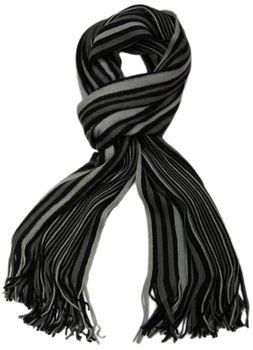 styleBREAKER Feinstrick Herren Schal im Streifen Look, Strickschal mit Fransen, weich und warm 01018117 – Bild 33
